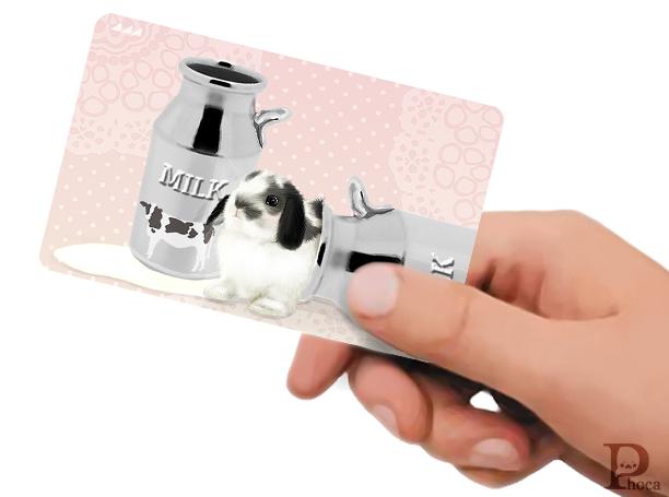 ICカードステッカー ミルクうさぎ