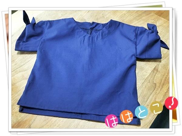 袖リボンシャツ【130】