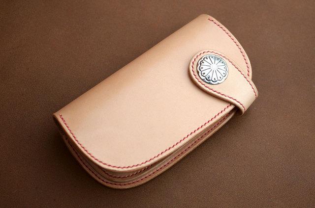 本革ロングサイズ財布 コンチョ (受注製作)