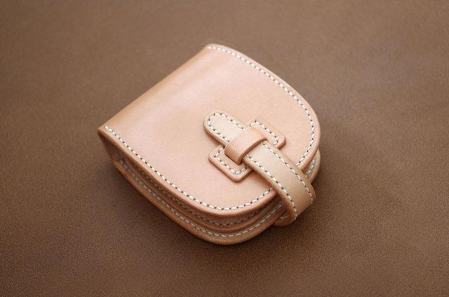 本革ショートサイズ財布 フラップ (受注制作)