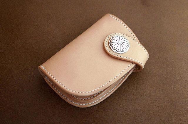 本革ハーフサイズ財布 コンチョ (受注製作)