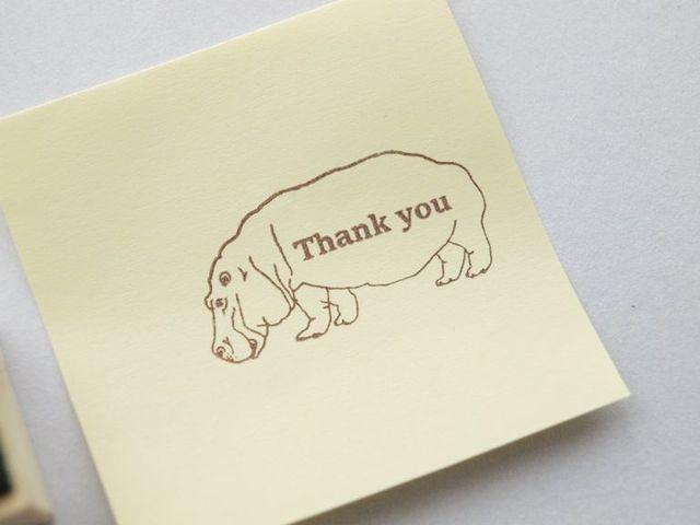 カバスタンプ(Thank  you)
