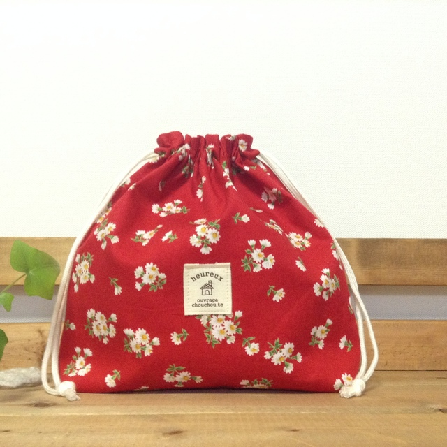 *可愛い花柄*巾着袋*♪