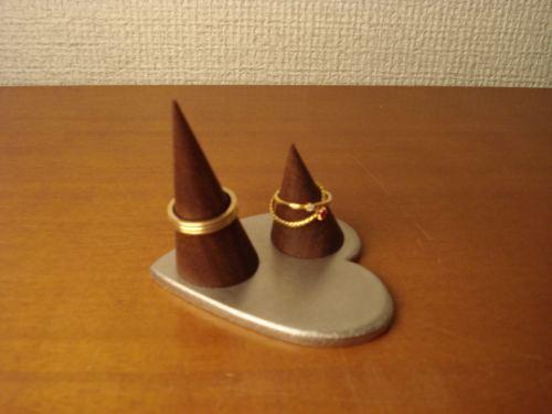 リングスタンド ハートカップル指輪スタンド