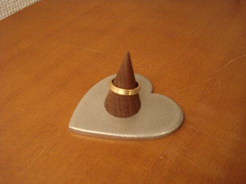 指輪スタンド シングルハート指輪スタンド 背が低いバージョン