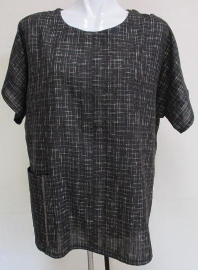 着物リメイク 綿の着物で作ったプルオーバー 1747