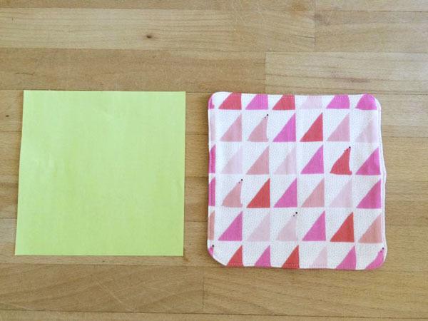 origamiハンカチ *おすわりシロクマ×お星様*