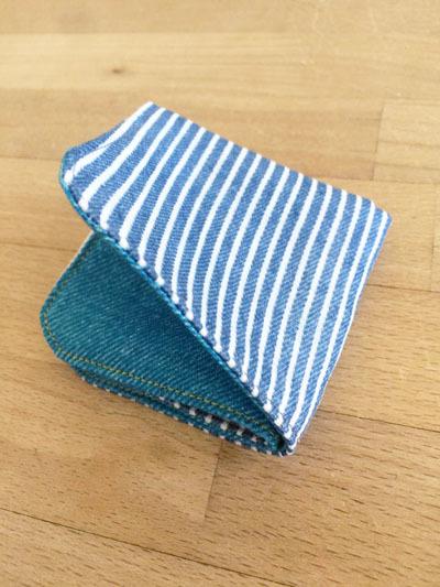 origamiハンカチ *デニム×ヒッコエリー*