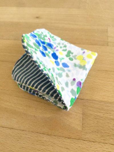 origamiハンカチ *水彩画風お花柄×ヒッコリー*