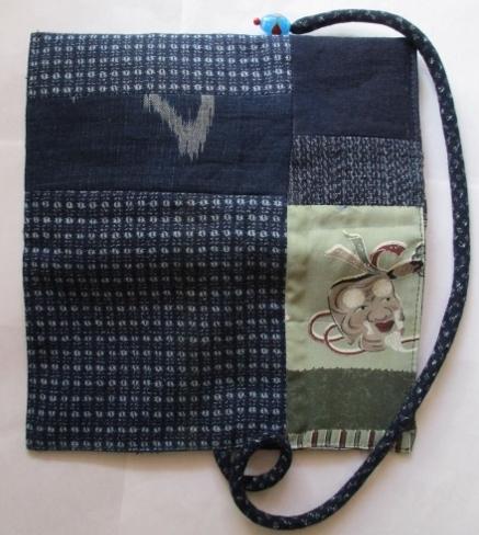 着物リメイク 男絣で作った和風財布 1749