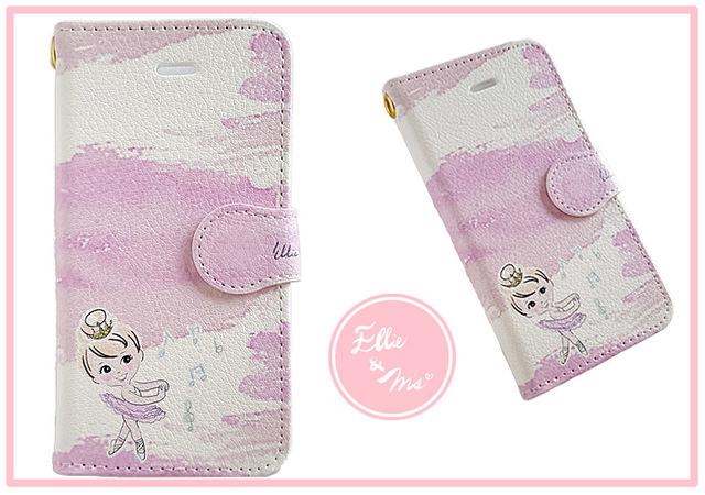 バレエ少女 手帳型スマホケース iPhone5/5s/SE