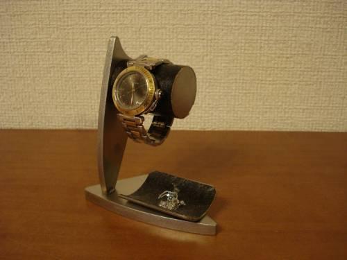 腕時計スタンド デザイン時計収納スタンド ブラックトレイバージョン