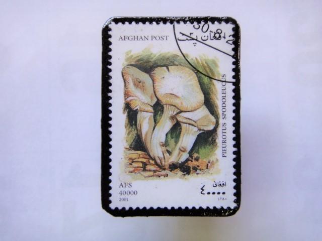 アフガニスタン 切手ブローチ1409