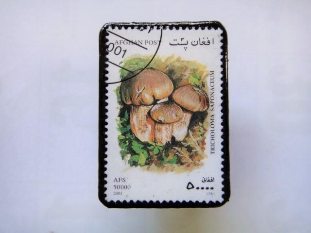 アフガニスタン 切手ブローチ1411