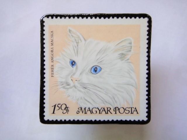ハンガリー 切手ブローチ1419