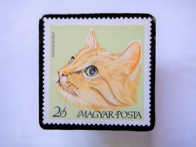 ハンガリー 切手ブローチ1421