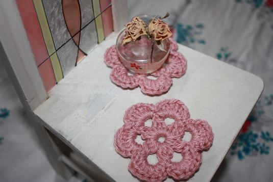 ? お花のモチーフ ?  ピンク 5枚セット