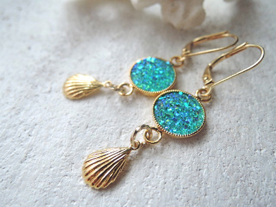 mermaid's lagoon earrings II