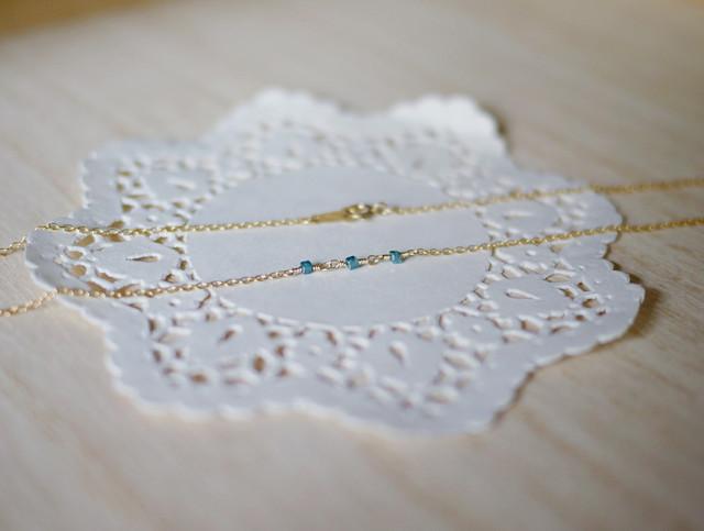 (Sold out)[K14gf]ブルーダイヤのネックレス