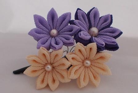 4輪の剣つまみ 紫×ベージュ