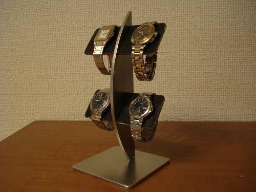 結婚祝いに!ブラックコルク4本掛け腕時計スタンド スタンダード