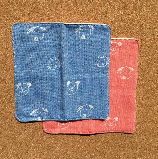 多用途ハンカチ布ナプキンS2枚set
