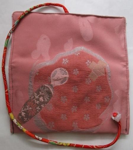 着物リメイク 漆織りの着物で作った和風財布 1755