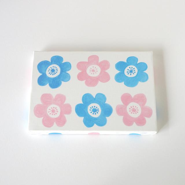 anemone ファブリックパネル (ピンク&ブルー)