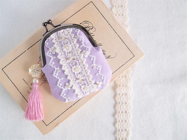 ミニがま口 (紫色)