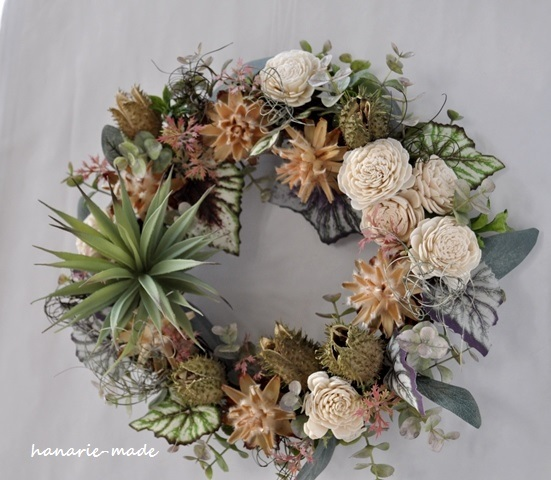 Dracaena wreath:graysh green no.2
