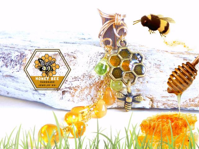 ???とろり蜂蜜イヤーカフHoneycomb Honey Bee ???