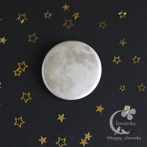 【あの日の月】満月バッジ(スーパームーン・2015.9.28)/b02