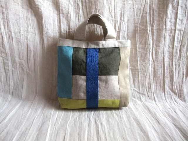 itoiro mini tote bag (blue)