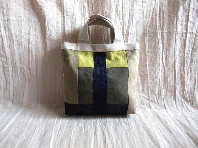 itoiro mini tote bag (navy)