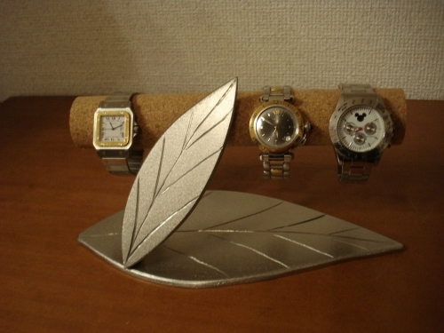 恋人へのプレゼントに!ダブルリーフ腕時計スタンド スタンダード