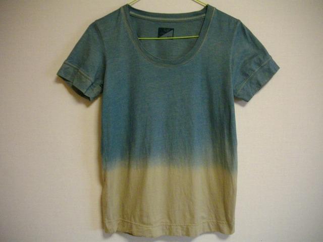 草木染オーガニックTシャツ「色変階009」