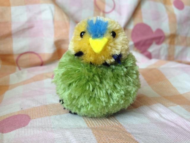ぽんぽん小鳥・インコ(緑)