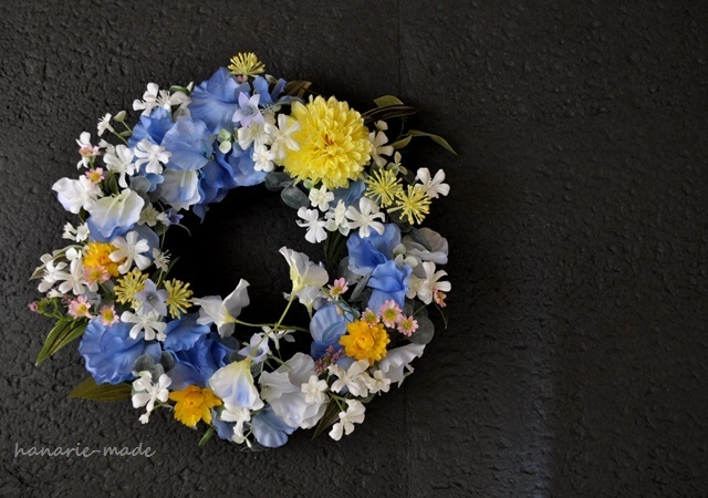 月夜と秋草花:wreath