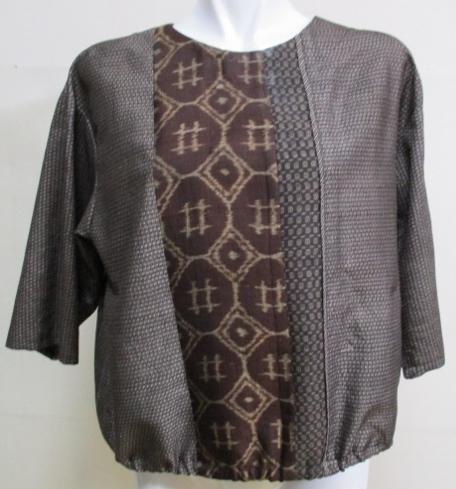 着物リメイク 大島で作ったプルオーバー 1757