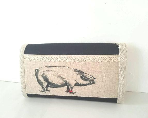 オシャレなぶたさん長財布