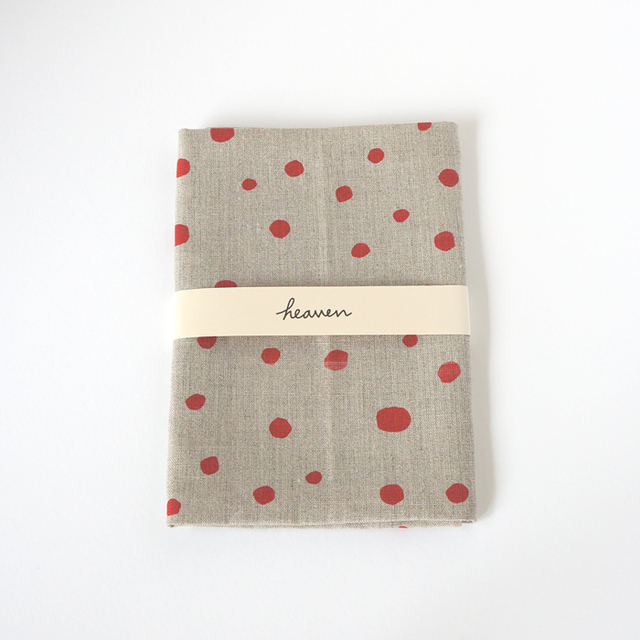 fuwa fuwa dot ティータオル L (red・キッチンリネンタオル)