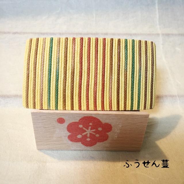 木綿柄バレッタ7