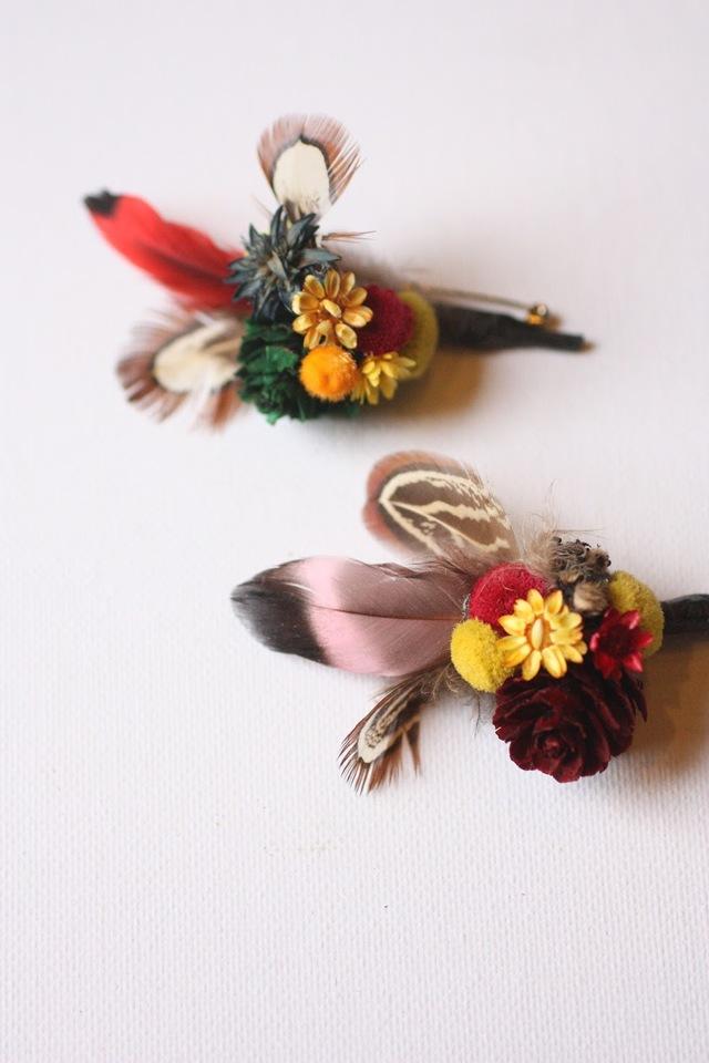 botanical brooch pin hane