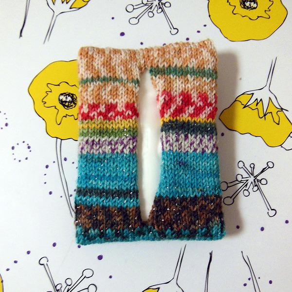 毛糸のティッシュケース 3