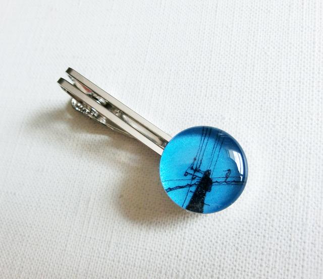 ネクタイピンLL162/青空の電柱