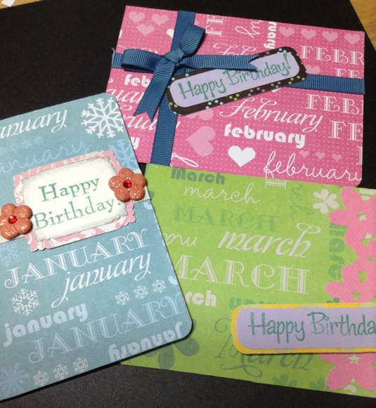 (送料無料)誕生月別カード