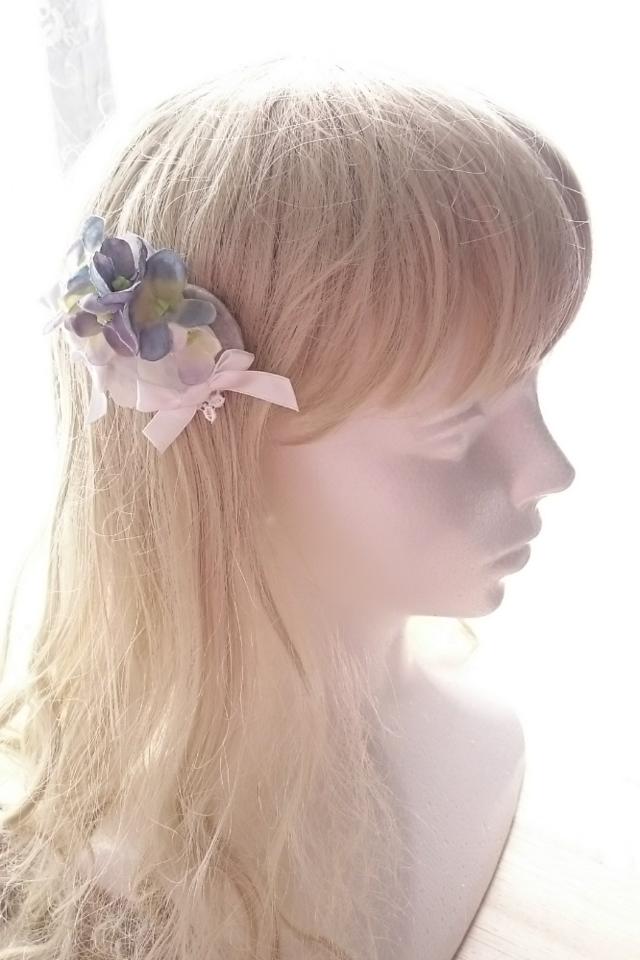 花のスリーピン 〜白紫〜