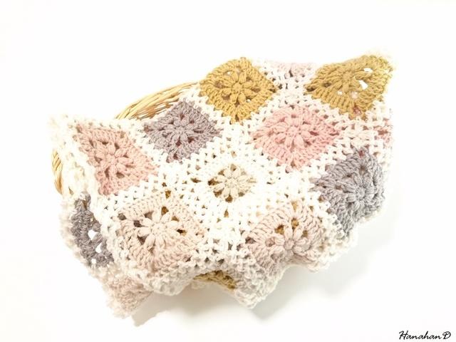 ふわふわブランケット 手編みウール