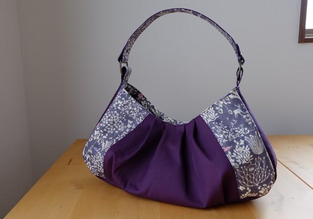 リバティ Yoshie(ヨシエ)×帆布のワンハンドルバッグ