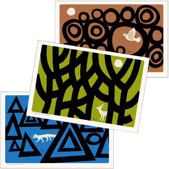 ポストカード|こころ森-Dセット(3枚入)